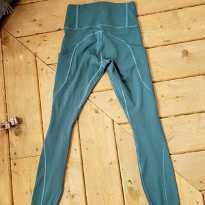 XS Teal/Green Athleta Leggings
